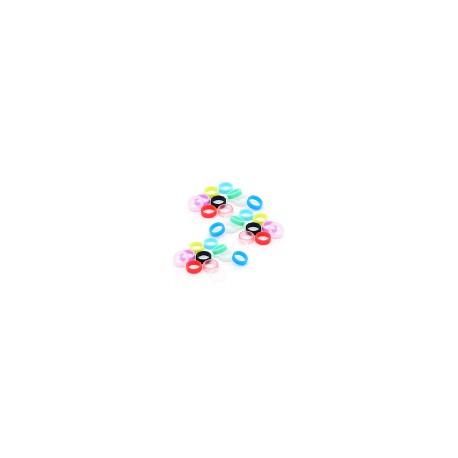 Anillas de polímero L-Style transparentes, 6 unid.