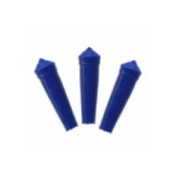 Protector plástico para plumas color azul