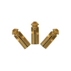 Protector de plumas aluminio dorado